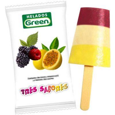 Helado Green Tres sabores