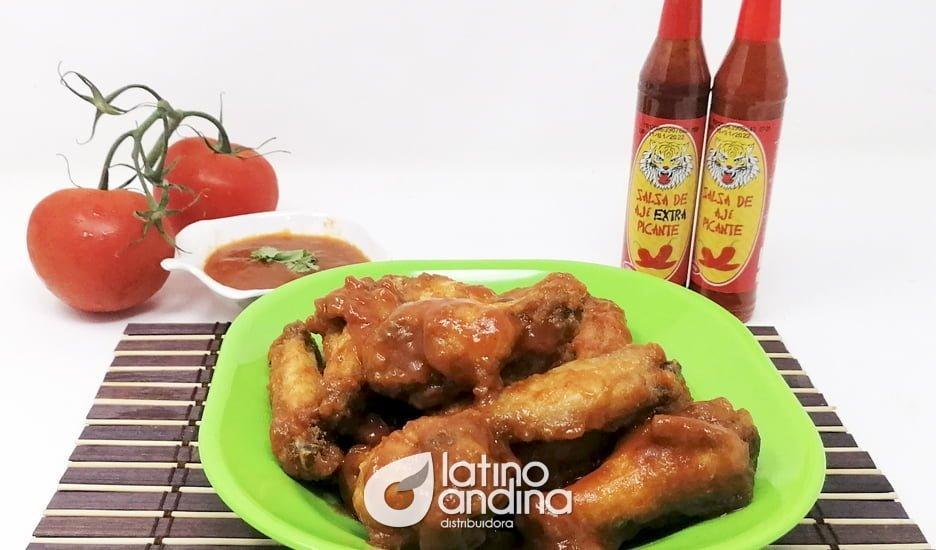 Alitas de pollo con Salsa de Ají Picante La Latina
