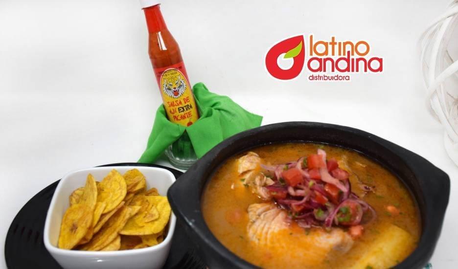 Encebollado ecuatoriano con Salsa de Ají Extrapicante La Latina